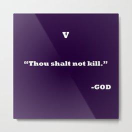 Ten Commandments ....5 Metal Print