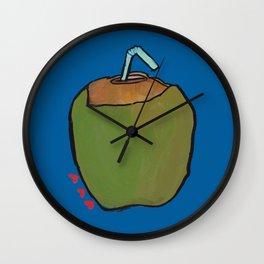 Fresh Coconut - ready to sip! Wall Clock