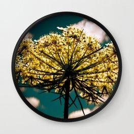 Under a Flower Sky Wall Clock