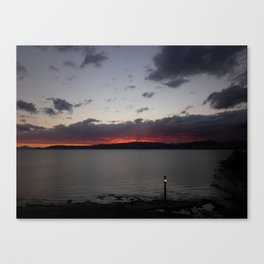 Sunset Over Taupo Canvas Print