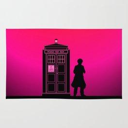 Tardis With The Sixth Doctor Rug
