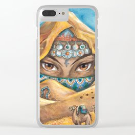 DESERT NYMPH Clear iPhone Case