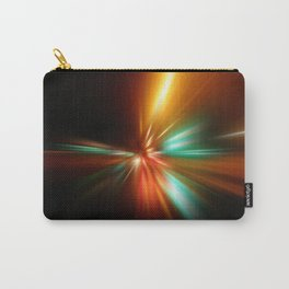 abstract acceleration speed motion on night road Carry-All Pouch
