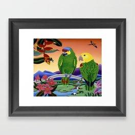 Amazon Parrots Framed Art Print