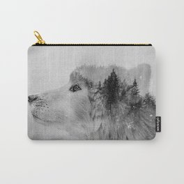 Wolf (B&W) Carry-All Pouch