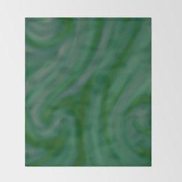 Green SWIRL Throw Blanket