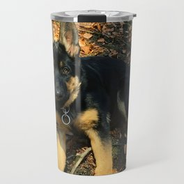 A beautiful German Shepherd in the forest Travel Mug
