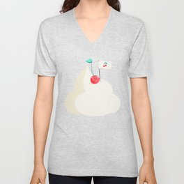 Cherry on top (of the whipped cream mountain) Unisex V-Neck