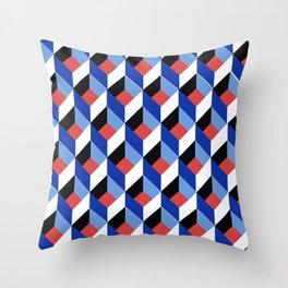 Retro Cube  Throw Pillow