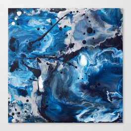 Color Commentary #12: Blue & Silver [Debi Vaught-Thelin] Canvas Print