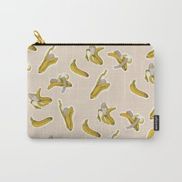 Eating process (Banana) // watercolor banana consumption Carry-All Pouch