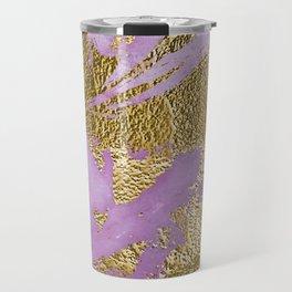 Lavender Gold Marble Travel Mug