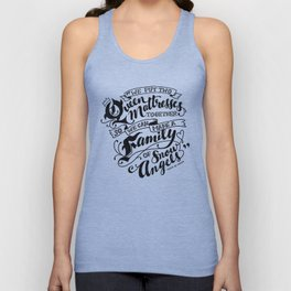 Family Of Snow Angels Unisex Tank Top