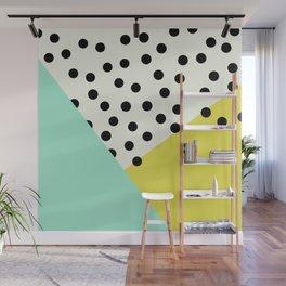 Mod dots and angles  Wall Mural