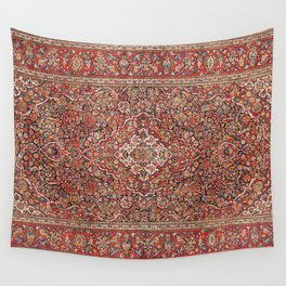 Kashan  Antique Persian Rug Wall Tapestry