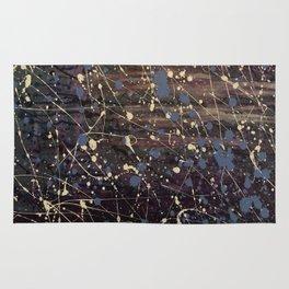 New York. Graffiti, Abstract, Blue, Purple, Pollack, Jodilynpaintings, Splatter Rug
