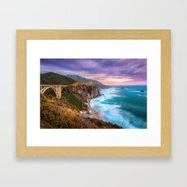 Big Sur Bixby Bridge Adventure Framed Art Print