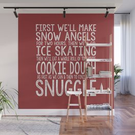 ELF CHRISTMAS MOVIE To-Do List Snow Angels Skating Cookie Dough Snuggle Buddy The Elf Will Ferrell Wall Mural