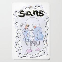 Sans - Undertale Friends -Pen Drawn Cutting Board