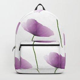 Purple poppies pattern Backpack