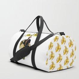 Nicolas Cage in a peeled banana Duffle Bag
