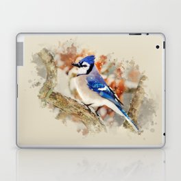 Watercolor Blue Jay Art Laptop & iPad Skin