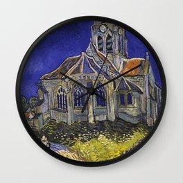 The Church at Auvers by Vincent van Gogh Wall Clock