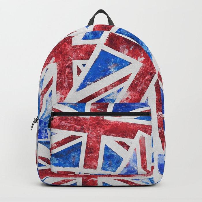 Union Jack Great Britain Flag Grunge Backpack