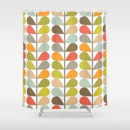 Retro Mid Century Modern Pattern Shower Curtain