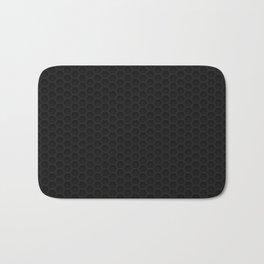 Black Metal Hexagon Shape Pattern Bath Mat