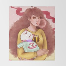 Bee and Puppycat Throw Blanket