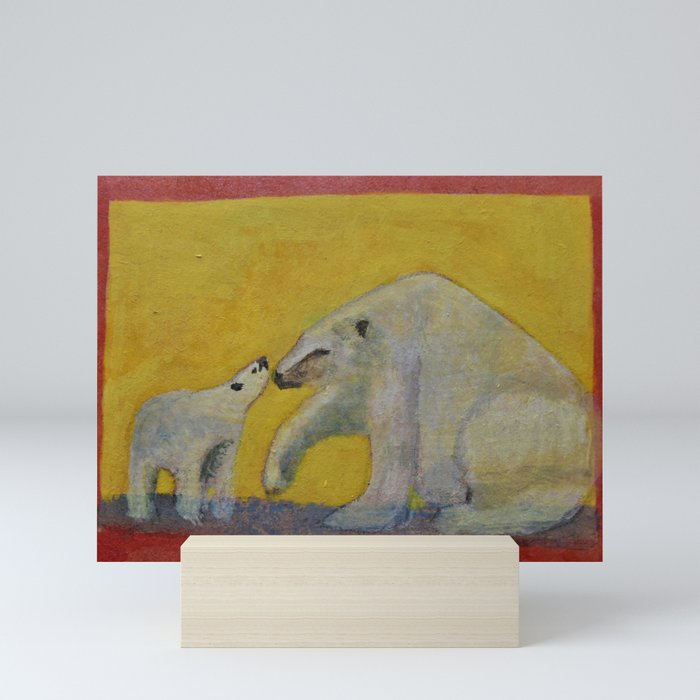 Polar bears Mini Art Print