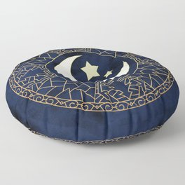MANDALA MOON AND STARS Floor Pillow