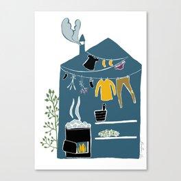 Sauna Canvas Print