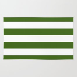 Simply Stripes in Jungle Green Rug
