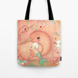 Candy Narwhal Tote Bag