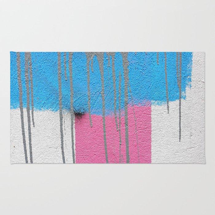 street marks pastel Rug