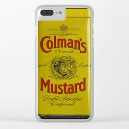 Colman's Mustard Clear iPhone Case
