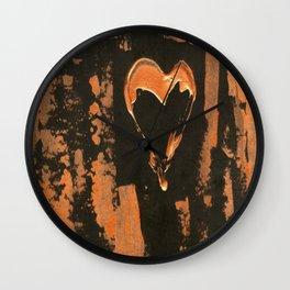 Liquid Copper Heart Wall Clock