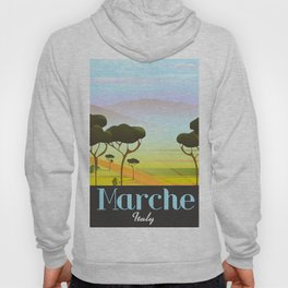Marche Italy travel poster Hoody