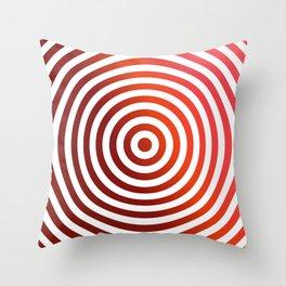 Red circles Throw Pillow