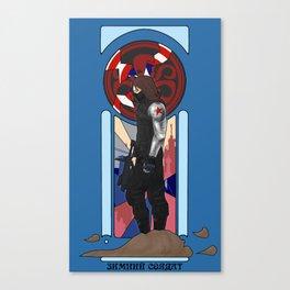 Art Nouveau Winter Soldier Canvas Print