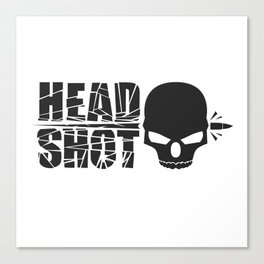 Headshot Black Canvas Print