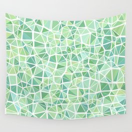Pastel triangles 1 Wall Tapestry