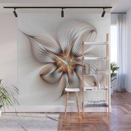 Elegance of a Flower, modern Fractal Art Wall Mural