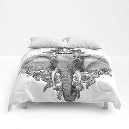 Elephant & Poppies  Comforters
