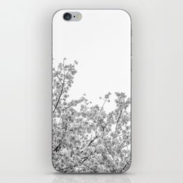 Cherry Blossoms (Black and White) iPhone Skin