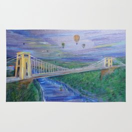 Clifton Suspension Bridge - Hot air balloon festival Rug
