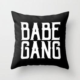 Babe Gang - White Throw Pillow