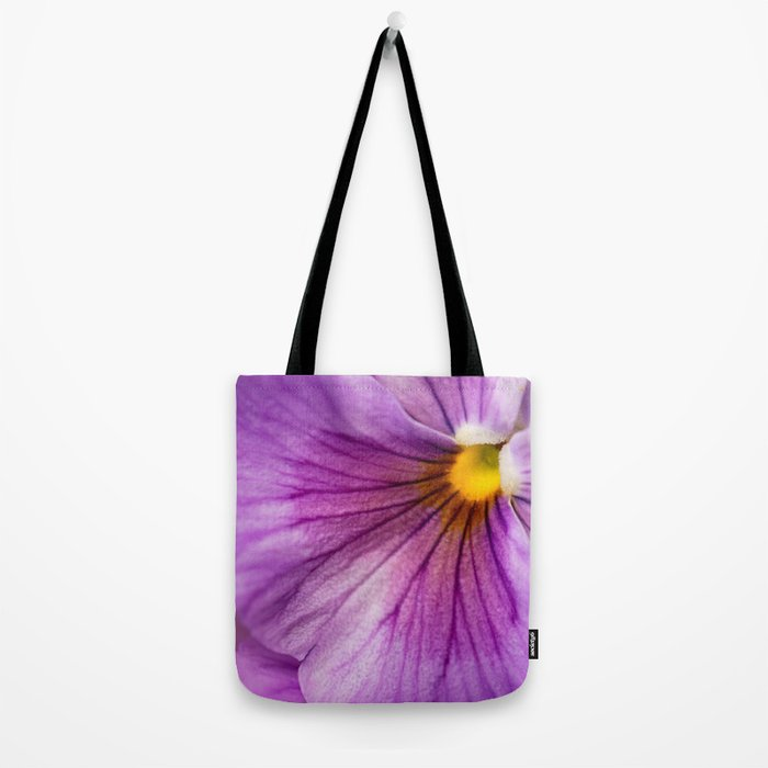 Purple Pansy Flower Close-up #decor #society6 #buyart Tote Bag